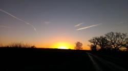 Stunning winters sunrise